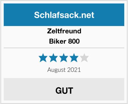 Zeltfreund Biker 800 Test