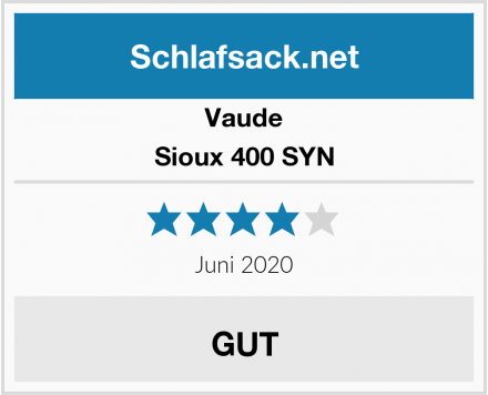 Vaude Sioux 400 SYN Test