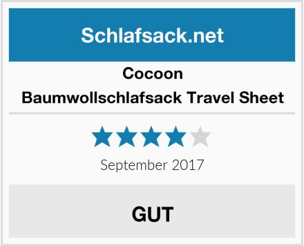 Cocoon Baumwollschlafsack Travel Sheet Test