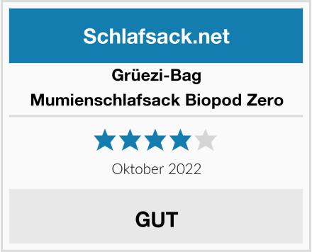 Grüezi-Bag Mumienschlafsack Biopod Zero Test