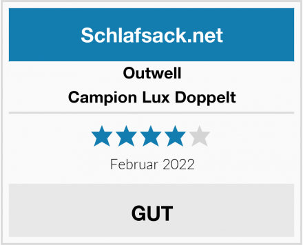 Outwell Campion Lux Doppelt Test