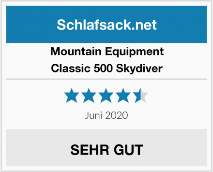 Mountain Equipment Classic 500 Skydiver Test