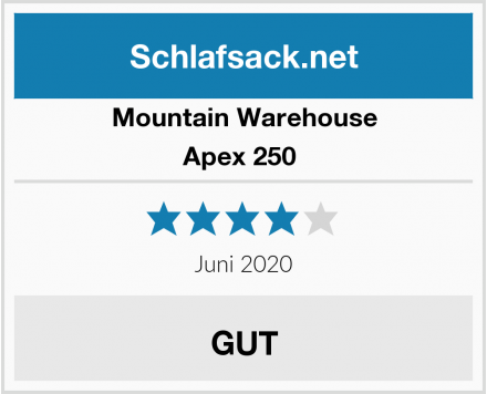 Mountain Warehouse Apex 250  Test