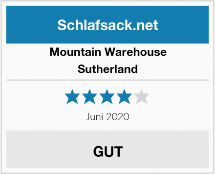 Mountain Warehouse  Sutherland Test