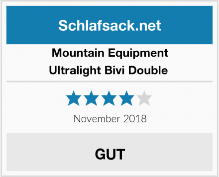 Mountain Equipment Ultralight Bivi Double  Test