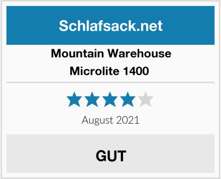 Mountain Warehouse Microlite 1400  Test