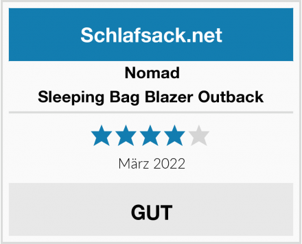 Nomad Sleeping Bag Blazer Outback Test