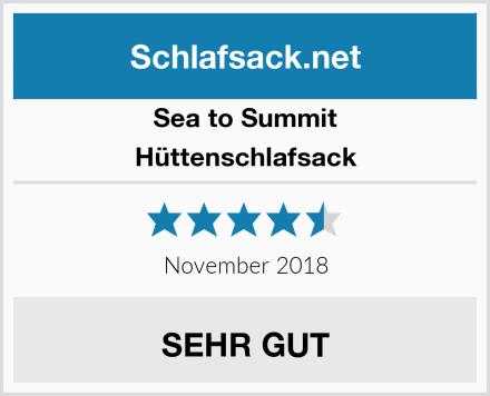 Sea to Summit Hüttenschlafsack Test