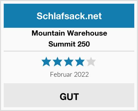 Mountain Warehouse Summit 250 Test