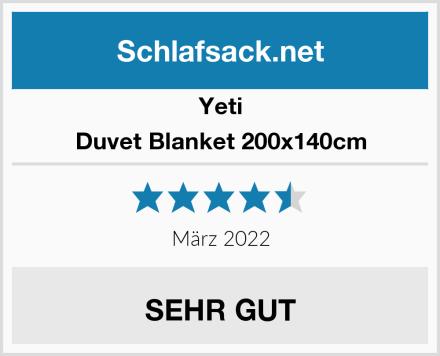 Yeti Duvet Blanket 200x140cm Test