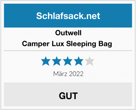 Outwell Camper Lux Sleeping Bag  Test