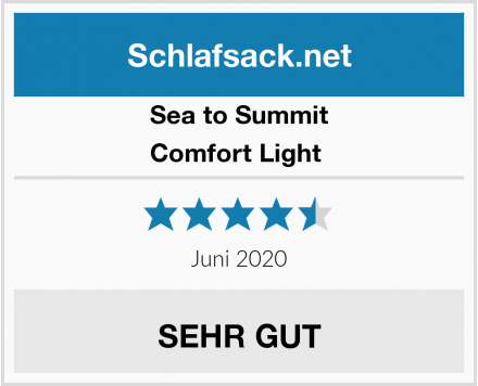 Sea to Summit Comfort Light  Test