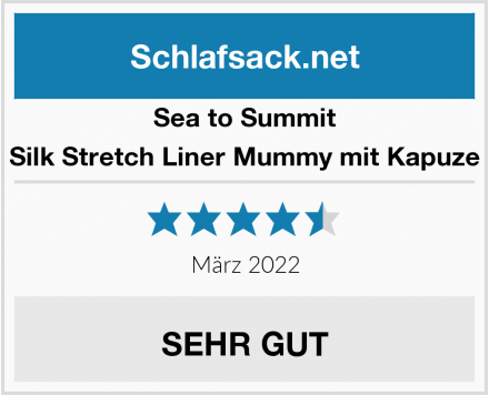 Sea to Summit Silk Stretch Liner Mummy mit Kapuze Test