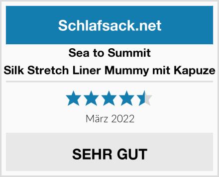Sea to Summit Silk Stretch Liner Mummy mit Kapuze Test
