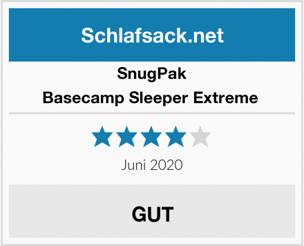 SnugPak Basecamp Sleeper Extreme  Test