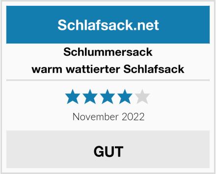Schlummersack warm wattierter Schlafsack Test