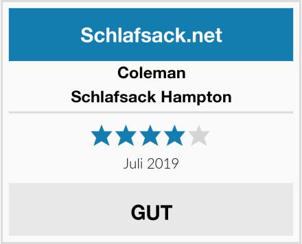 Coleman Schlafsack Hampton Test