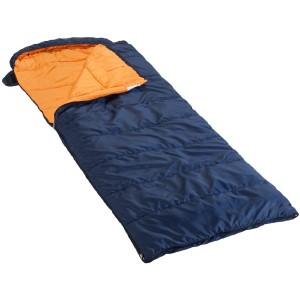Ein Schlafsack in Form einer Decke.