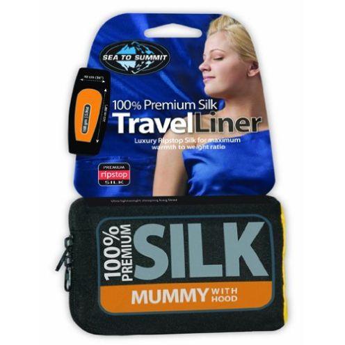 Sea to Summit Silk Stretch Liner Mummy mit Kapuze